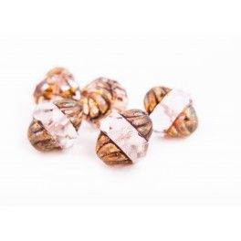 Turbine Beads 11x10mm - Transparent with picasso x1