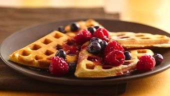 Cake Mix Waffles recipe from Betty Crocker