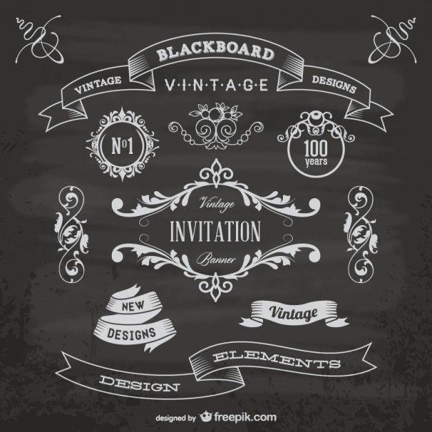 Blackboard anniversary graphic elements