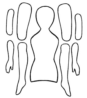 Use paper doll cut out in 2nd grade body arrangement/movement lesson.  EKDuncan - My Fanciful Muse: Articulated Paper Dolls - Vintage and New