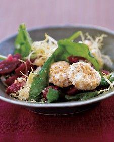 Arugula, Beet, and Goat-Cheese Salad