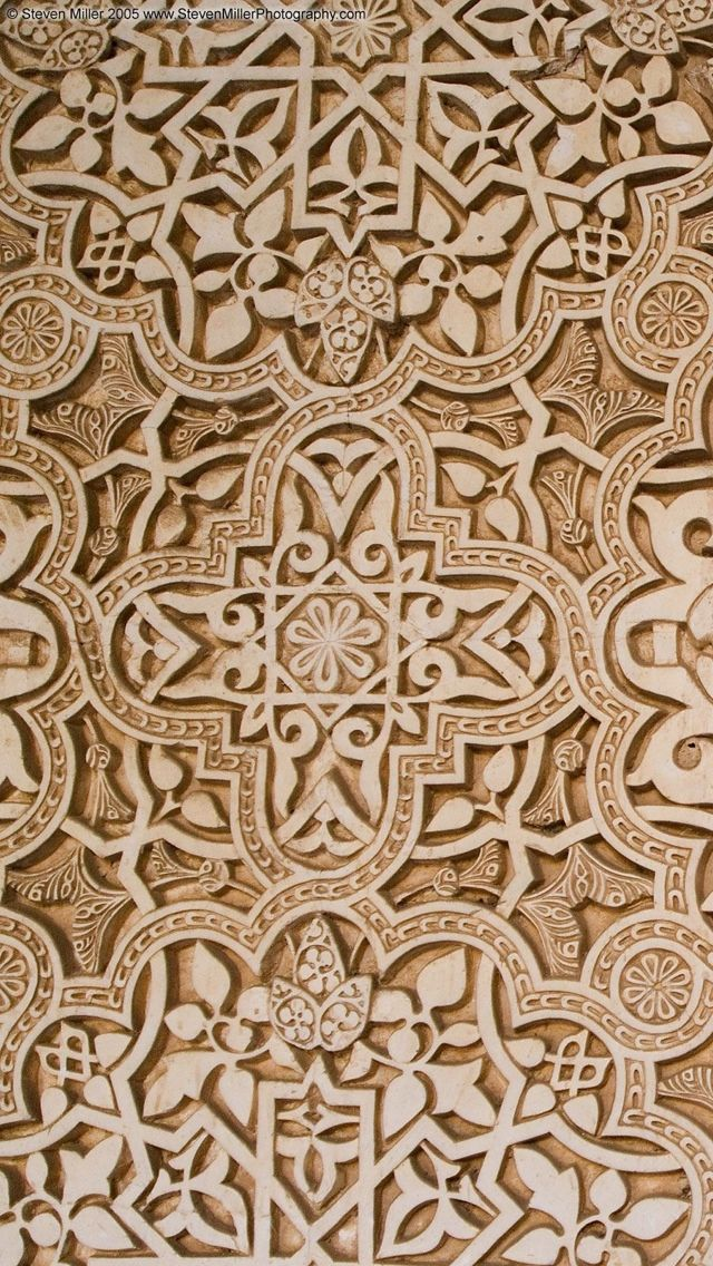 arabic pattern alhambra texture wallpaper iphone 5 640