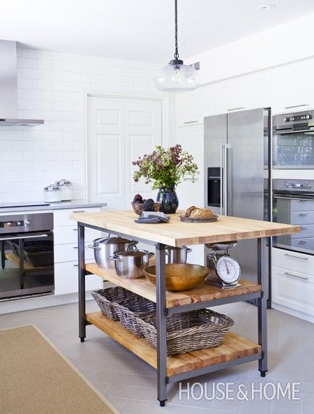 Photo Gallery: Kitchen Makeovers | House & Home   Love this island!  Could make a knock-off for our kitchen?