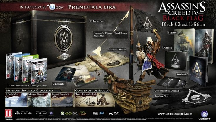 Assassins Creed 4 Black Flag trailer gameplay in italiano e collector