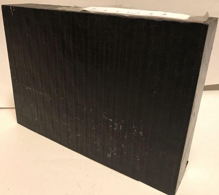 Gabon Ebony Hardwood Lumber 12x8.5x2 Guitar Making Woodworking Furniture Timber #Unbranded