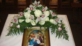 Стили,техники и технологии составления цветочных композиций для церковных праздников