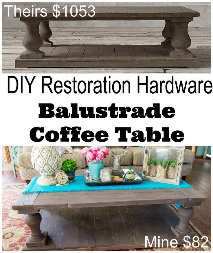 DIY Restoration Hardware Coffee Table (minus The Lower Wooden Piece)