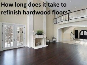 This outlines the process and length of time to refinish hardwood floors, including drying time.  Many homeowners don't realize how long it takes, and it's important to plan ahead.