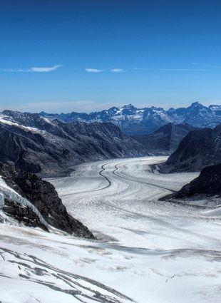 Aletsch Gletscher from Jungfrau , SWISS