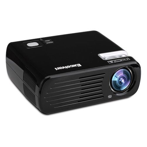 Top 10 Best Projectors Under 200 Dollar: 8. Excelvan 2600 Lumens Mini LED HD 1080P Multi-media LCD 3D Home Cinema Theater Projector