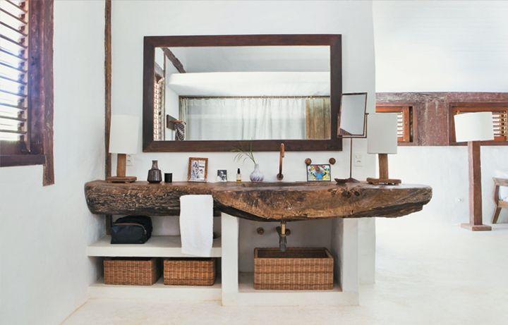 wood sink.  so cool