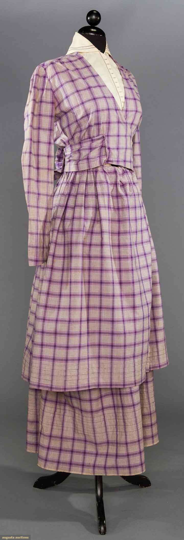 PURPLE DAY DRESS, 1915-1918  May 9, 2017 - CATALOG SALE Sturbridge, Massachusetts