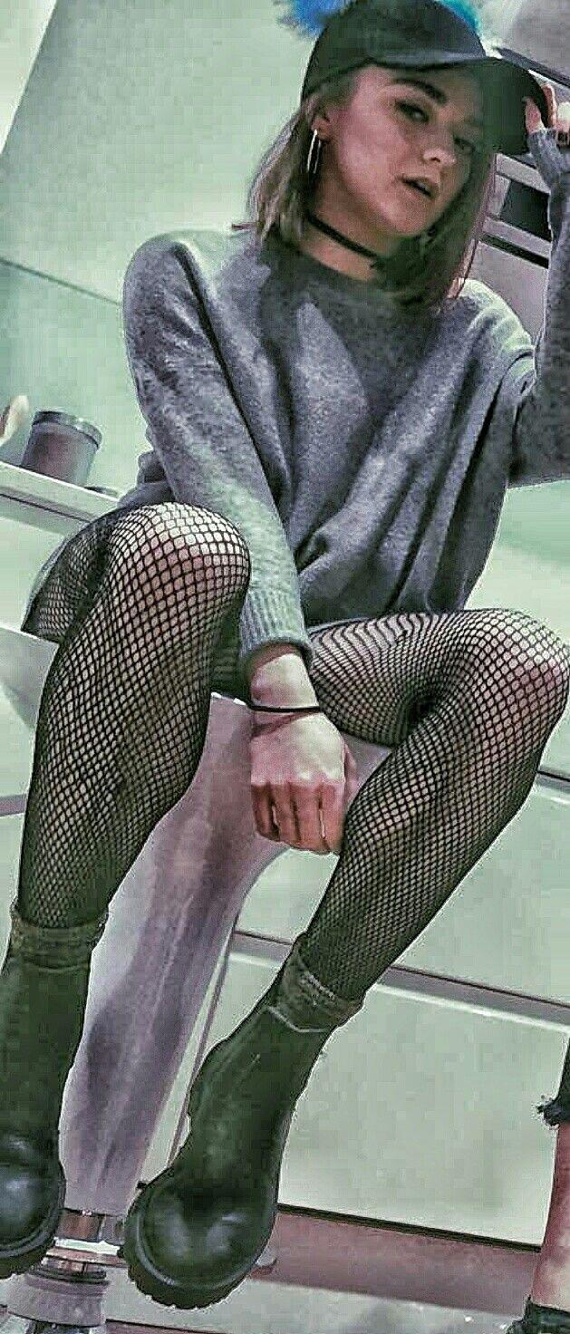 Maisie in fishnets