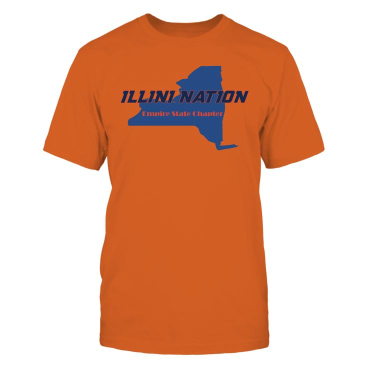 Illini Nation - Empire State Chapter Front picture Illinois Fighting Illini fan. This t-shirt is a wonderful gift for you, your father, brother, sister, mother, grandfather, grandmother, aunt, uncle, fire boy, niece for parties, birthday, Father's Day, Thanksgiving, Christmas, New Year