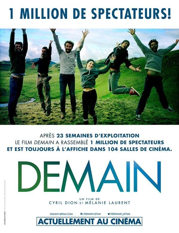 Le documentaire Demain atteint le million de spectateurs en France !