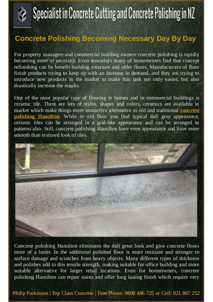 #Concrete #polishing #Hamilton eliminates the dull great look and give concrete floors more of a luster. In the additional polished floor is more resistant and stronger to surface damage and scratches from heavy objects.