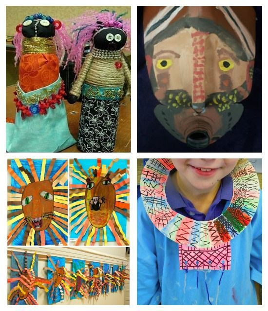African based art projects for kids! I've been looking for a good site FOREVER!