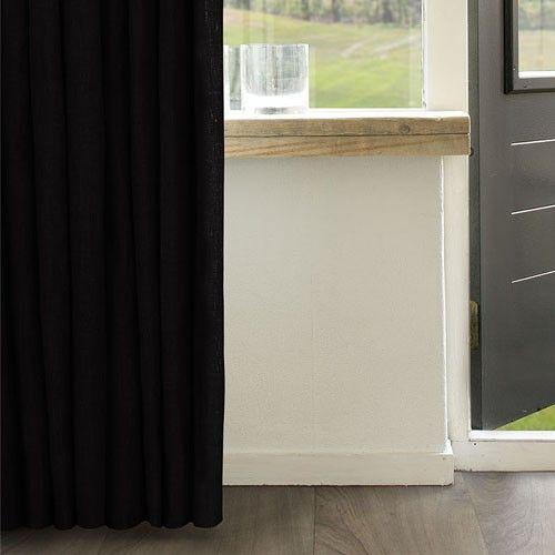 Zwart linnen: chique en stijlvol! #linnen #gordijnen #linnengordijnenshop