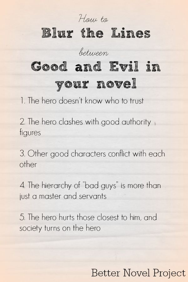 Good thesis writing vs evil creative