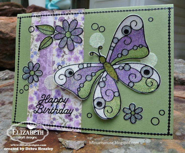 236 best peel off stickers images on pinterest cards for Elizabeth craft designs glitter