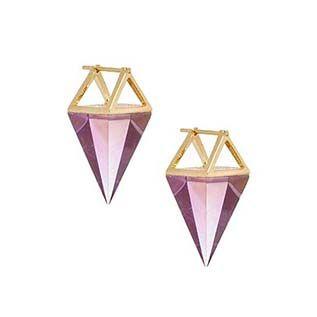 Quartz Krystal Pendulum Earrings