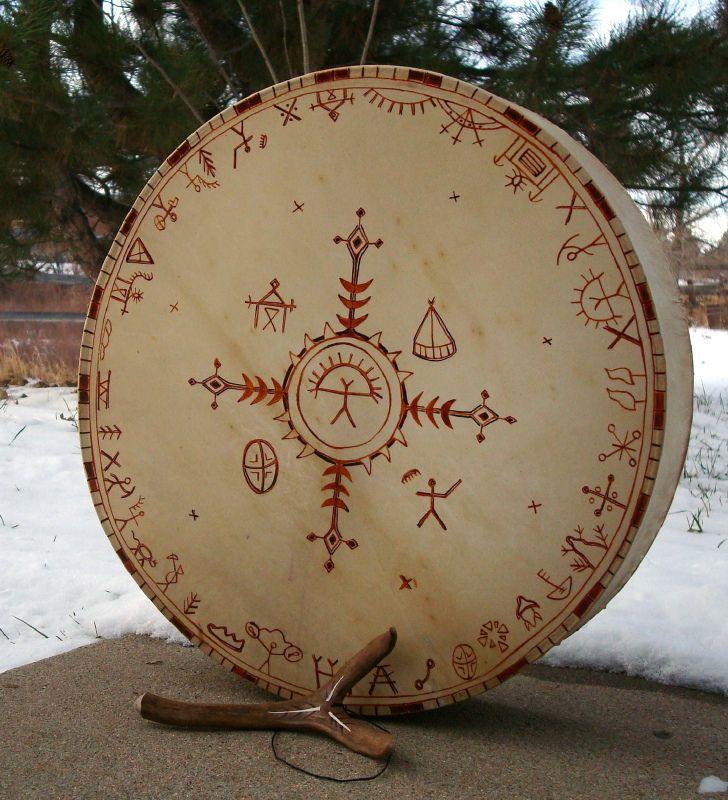Siberian style shaman drum