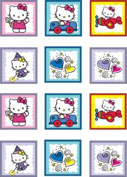 Free Hello Kitty Printables. Hello Kitty Stickers