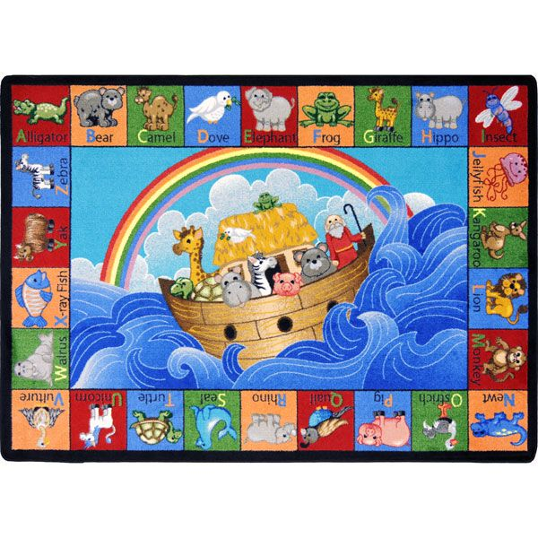 Carpets For Classrooms For Toddlers: Noah's Alphabet Animals Classroom Rugs At SCHOOLSin