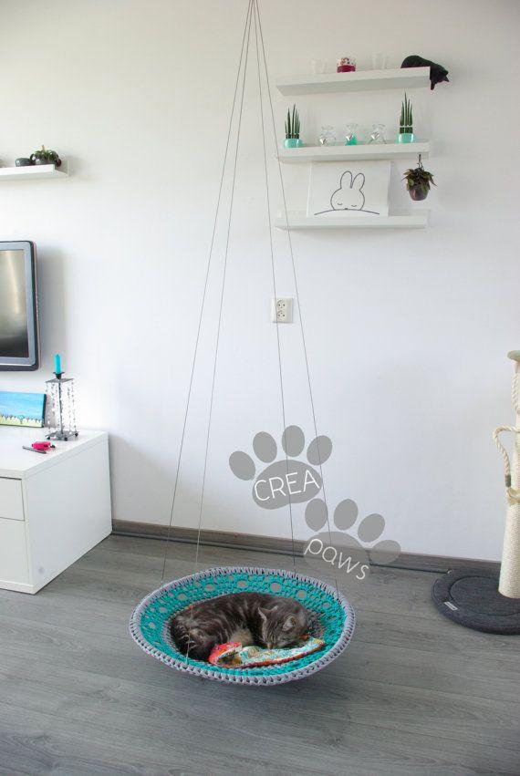Katten Hangmat  Cat Hammock van CreaPaws op Etsy