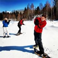 Just a little snowshoeing fun in the Prince Albert National Park, #Saskatchewan
