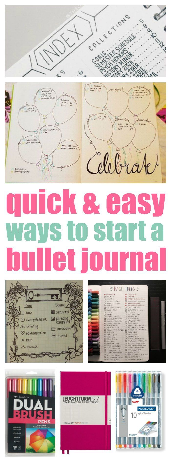 FINALLY! Instructions that make starting a bullet journal easy. It always seems so confusing but this post keeps it simple. Can't wait to get started!!!