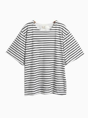 This Striped Batwing Sleeve T-shirt