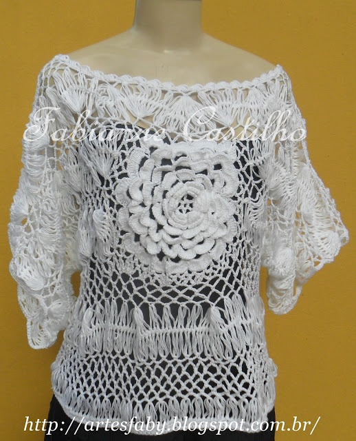 crochê de grampo: Crochet Blouse, Love Crochet, Crochet, Hairpin Tat, Linda, Hairpin Crochet, Hairpin Lace, Crochet Clothing
