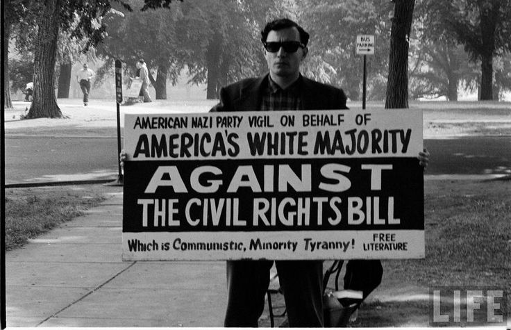 The other side of History. It is a shame that people were against the Civil Rights Bill  civil rights act, Protest