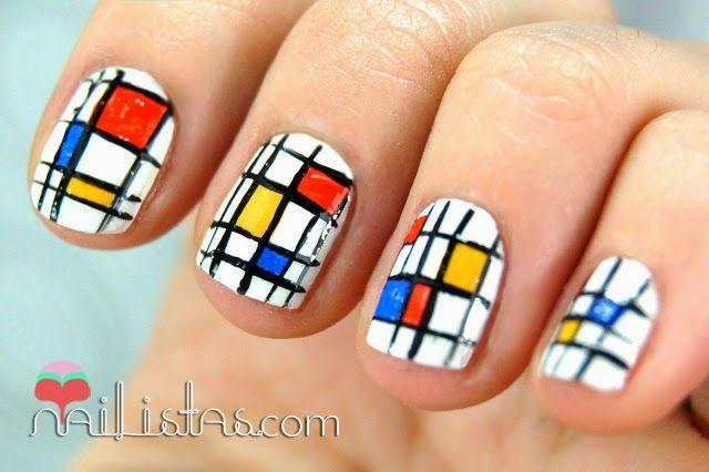 uñas cortas decoradas con esmalte sencillas paso a paso - Buscar con Google