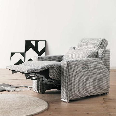 Butaca confortable con asiento reclinable