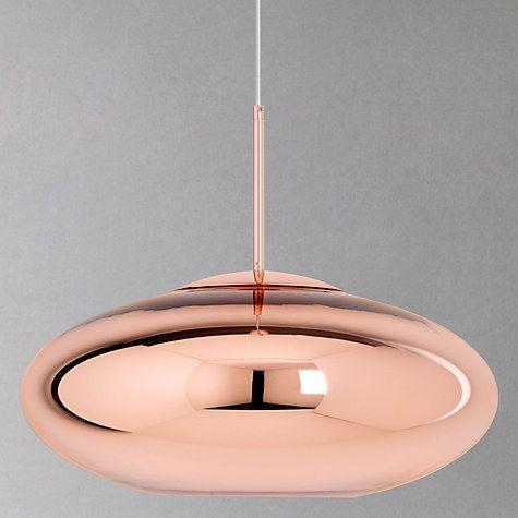 Buy Tom Dixon Copper Wide Pendant Ceiling Light, 50cm Online at johnlewis.com