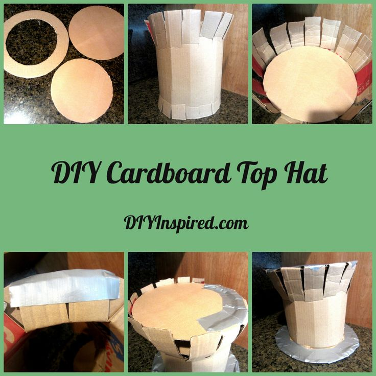 DIY Cardboard Top Hat Collage // madhatter hat