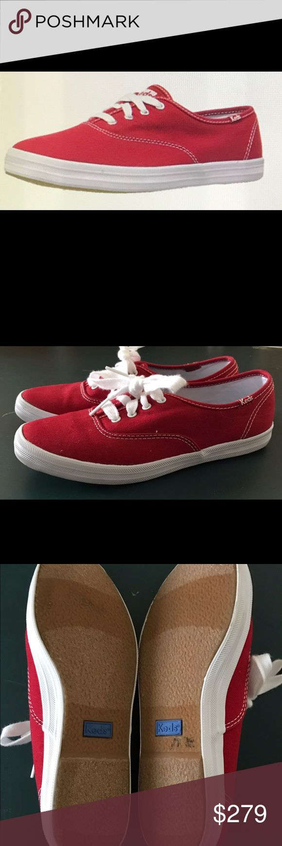 Selling this KEDS Champion Original Red Canvas Sneaker (Size 5) on Poshmark! My username is: tgmcallister. #shopmycloset #poshmark #fashion #shopping #style #forsale #Keds #Shoes