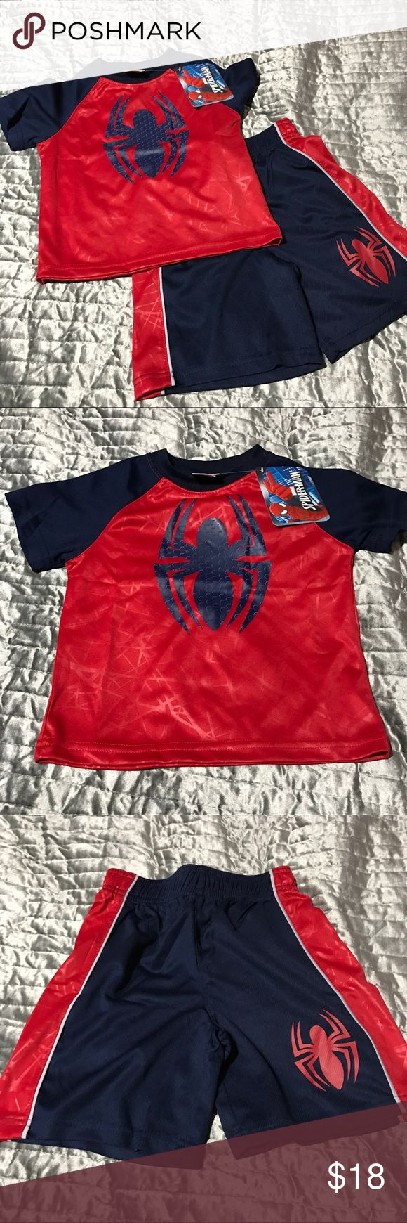Spder-Man 2-Pc t-shirt & short set New Matching Sets