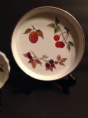 ROYAL WORCESTER EVESHAM OVEN TO TABLE Soufflé And Quiche Flan Lot Of 2  Pieces