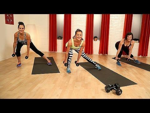 ▶ 10-Minute Body Toning Workout With Weights | Class FitSugar - YouTube
