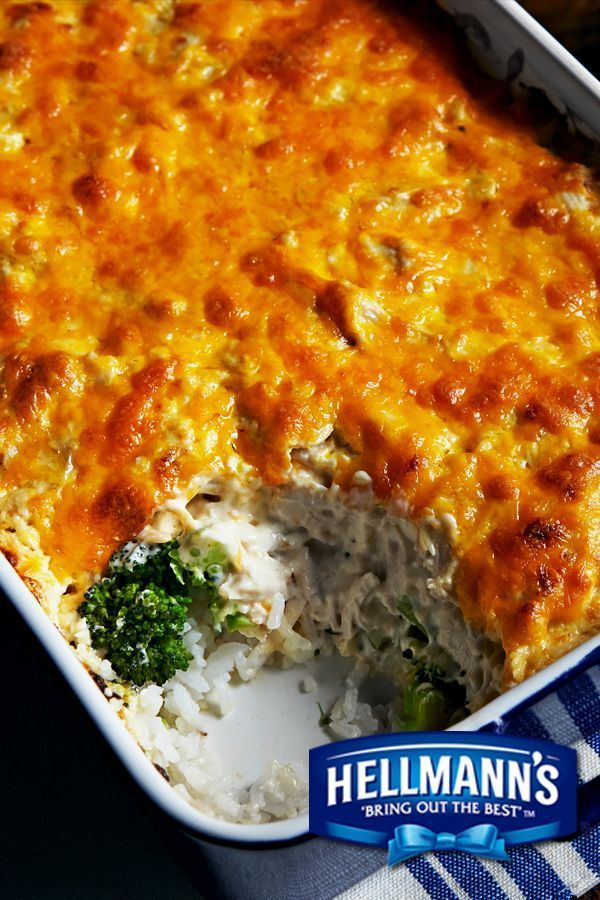 Who's up for a hearty casserole? Feast your eyes on Trisha Yearwood's yummy Chicken Broccoli Casserole recipe, made with mayonnaise! Perfect for pot lucks & parties!
