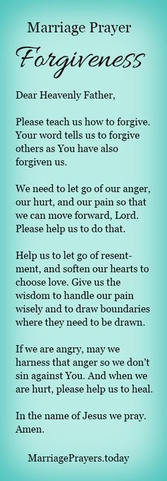 A marriage prayer to help us forgive.