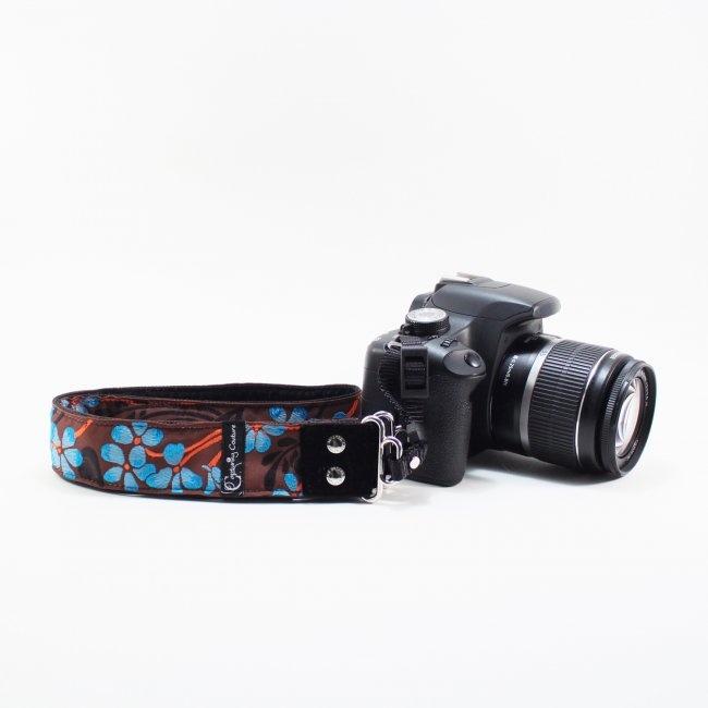 Hibiscus Ocean Kameraband - DESIGNSTRAPS - Kameragurte, Kamerataschen, C-Loop, Gitarrengurte, Camera Straps