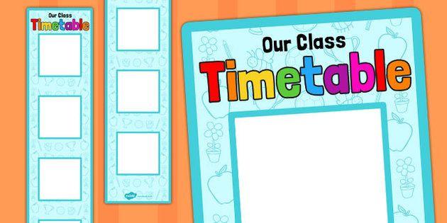Vertical Visual Timetable Display - vertical, visual, timetable - class timetable