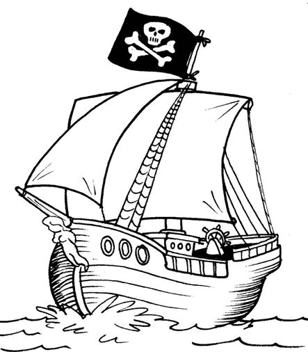 simple pirate ship drawing - Google Search