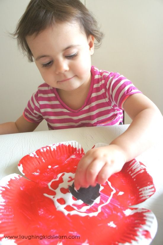 Sticking and pasting poppy for anzac day