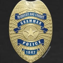 Grammar Police tee for my STACEY!!!
