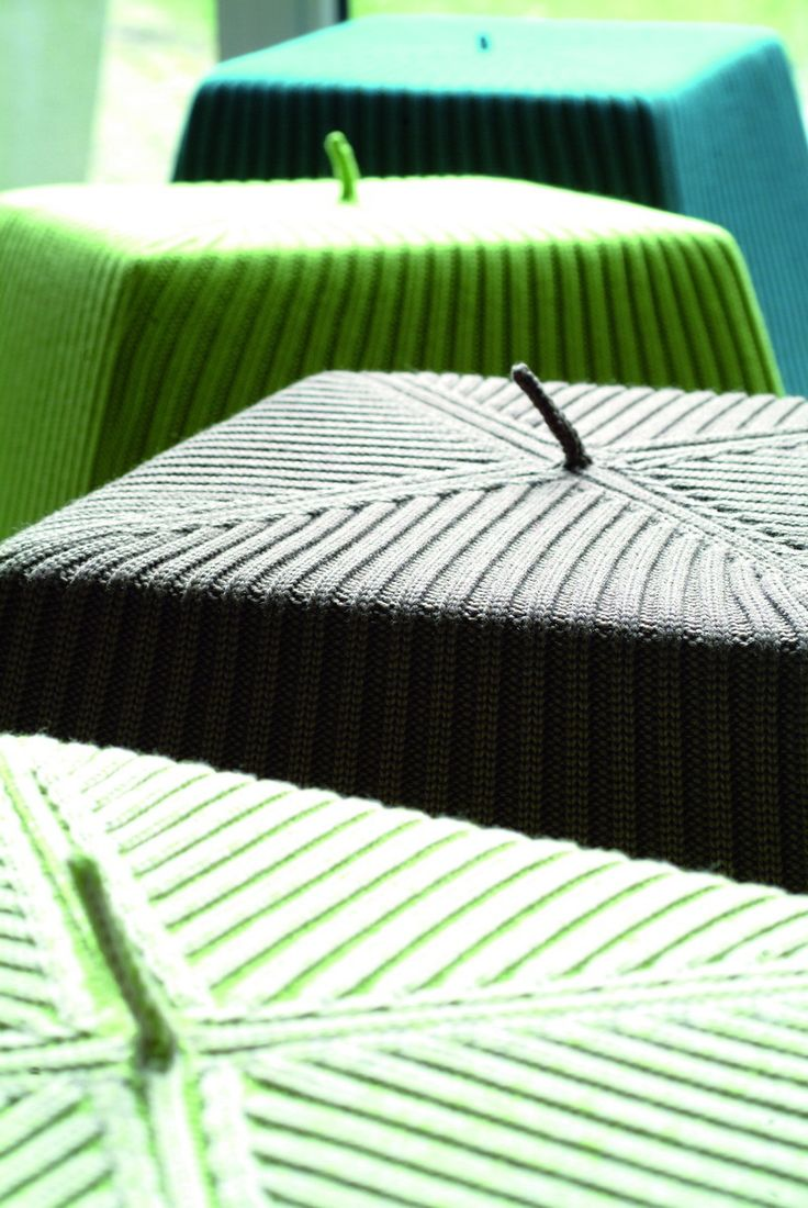 Bonnet poufs by Casalis